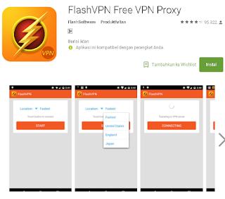 Ulasan Tentang FlashVPN Free VPN Proxy