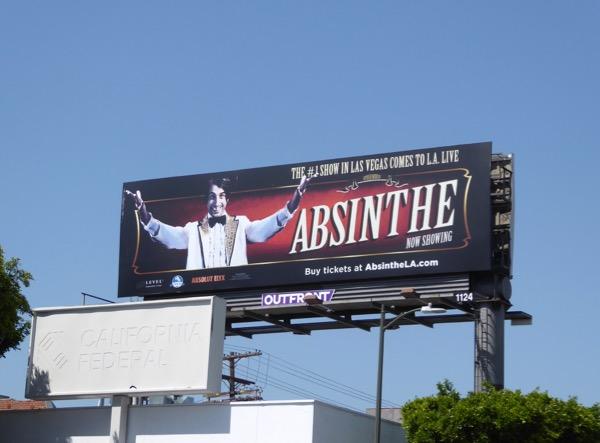 Absinthe show billboard