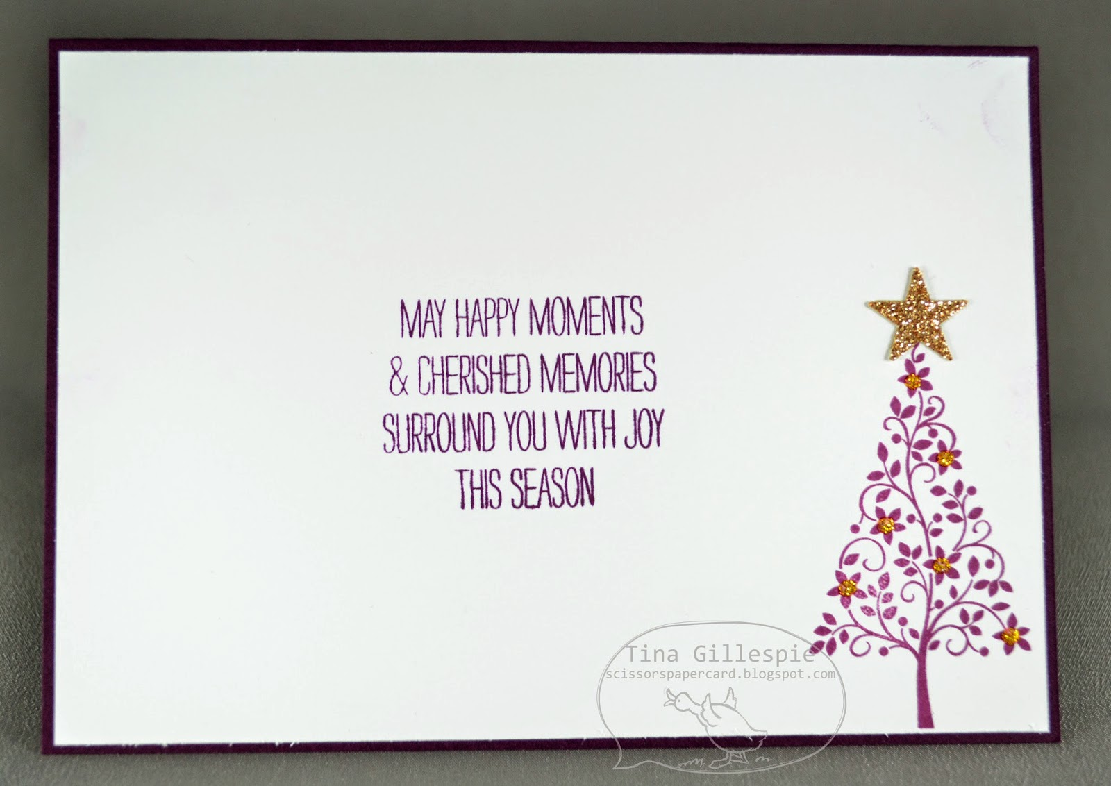 Scissors Paper Card: Happy Wonderful Christmas