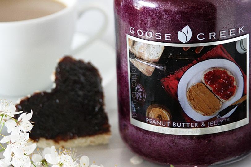 etykieta świecy goose creek peanut butter & jelly