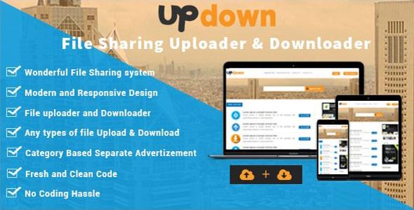 Free Download UpDown - File Sharing Uploader / Youtube / Downloader & Blogging