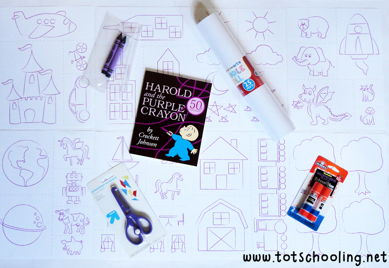 Harold and the Purple Crayon Book Activity