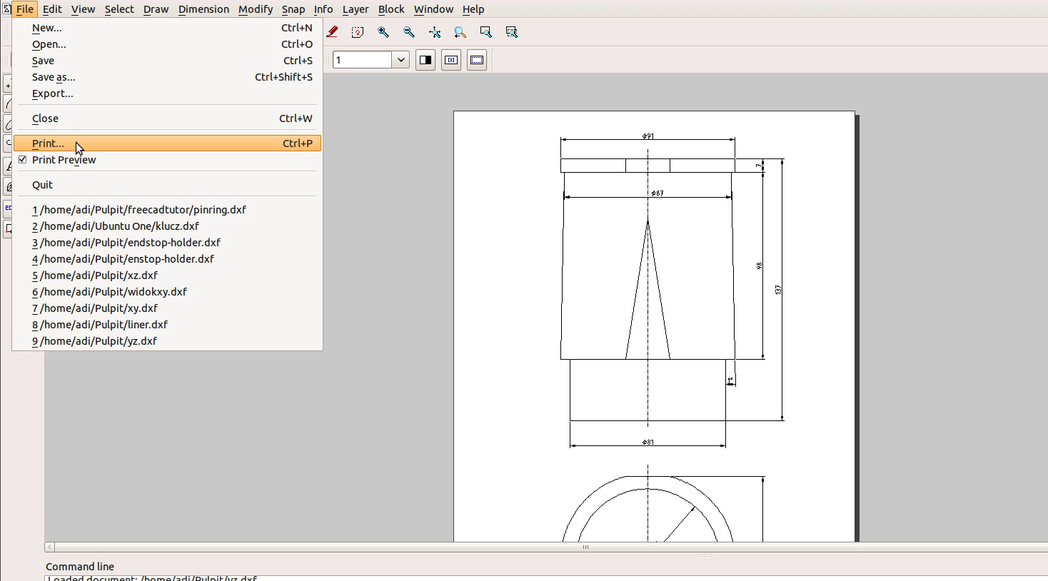 Best tutorial engine 8 liner blueprint freecad librecad for Librecad templates download