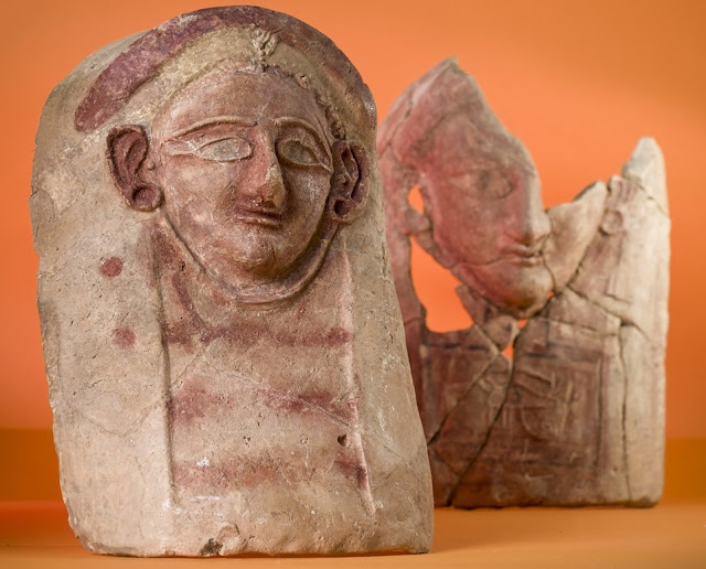 Ceramic female heads discovered in ancient Lebanese waste dump