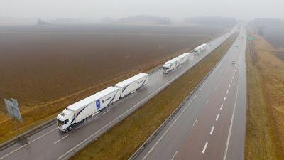 A fleet of trucks just drove themselves across Europe