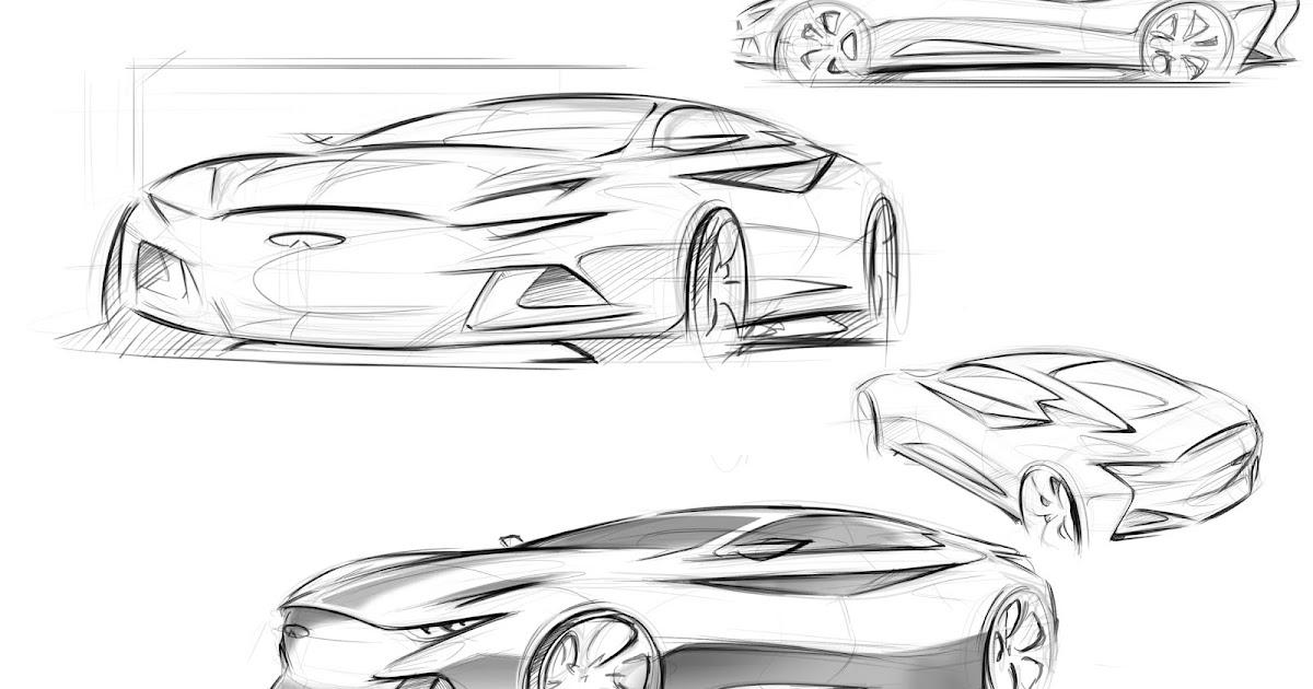 sangjai lee car design  infiniti q50 sketch