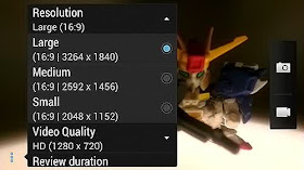 High resolution setting pada kamera smartphone