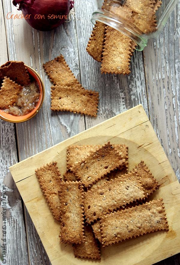 Cracker con semini, senza lievito