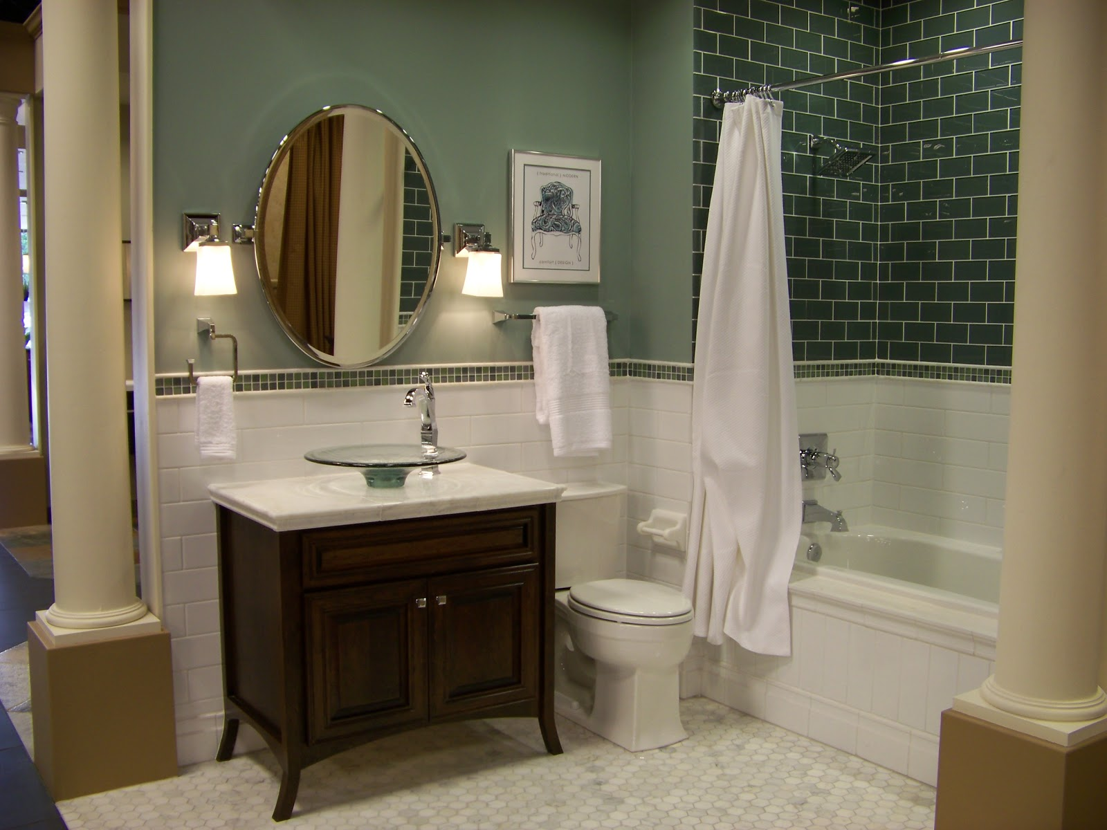 Home Decor Budgetista: Bathroom Inspiration - The Tile Shop on Bathroom Ideas Subway Tile  id=94254