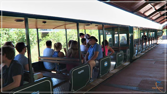 Trem ecológico no Parque Nacional Iguazú