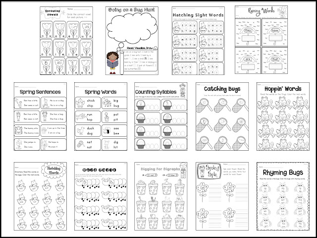 Sarah's First Grade Snippets: Spring Activities for
