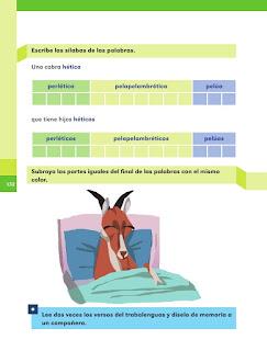 Apoyo Primaria Español 1er grado Bimestre 4 lección 4 Cabras héticas