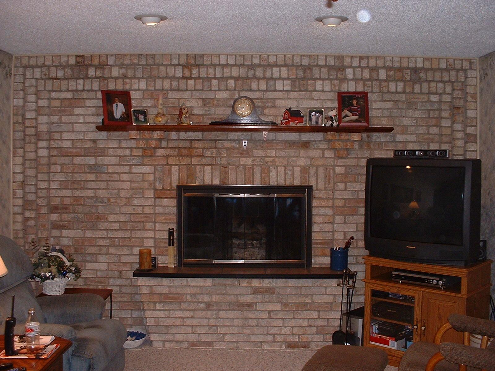 Brick Laminate Picture: Brick Fireplace Designs