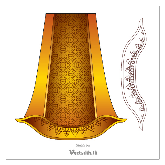 Khmer Ornament for Download Free Vector