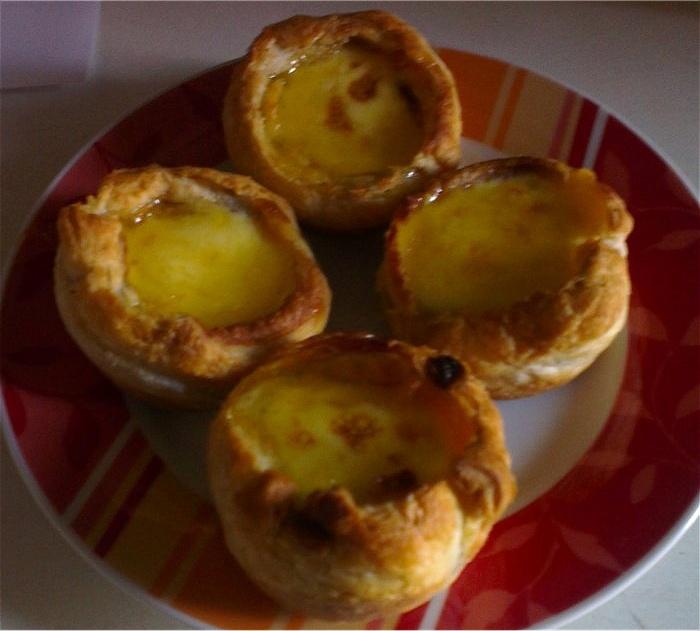 Portugiesische Cremetörtchen/Pastéis de Nata