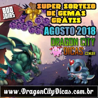Super Sorteio de 800 Joias Grátis - Agosto 2018