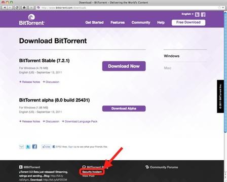 uTorrent & BitTorrent Sites Hacked, Spread Security Shield Malware