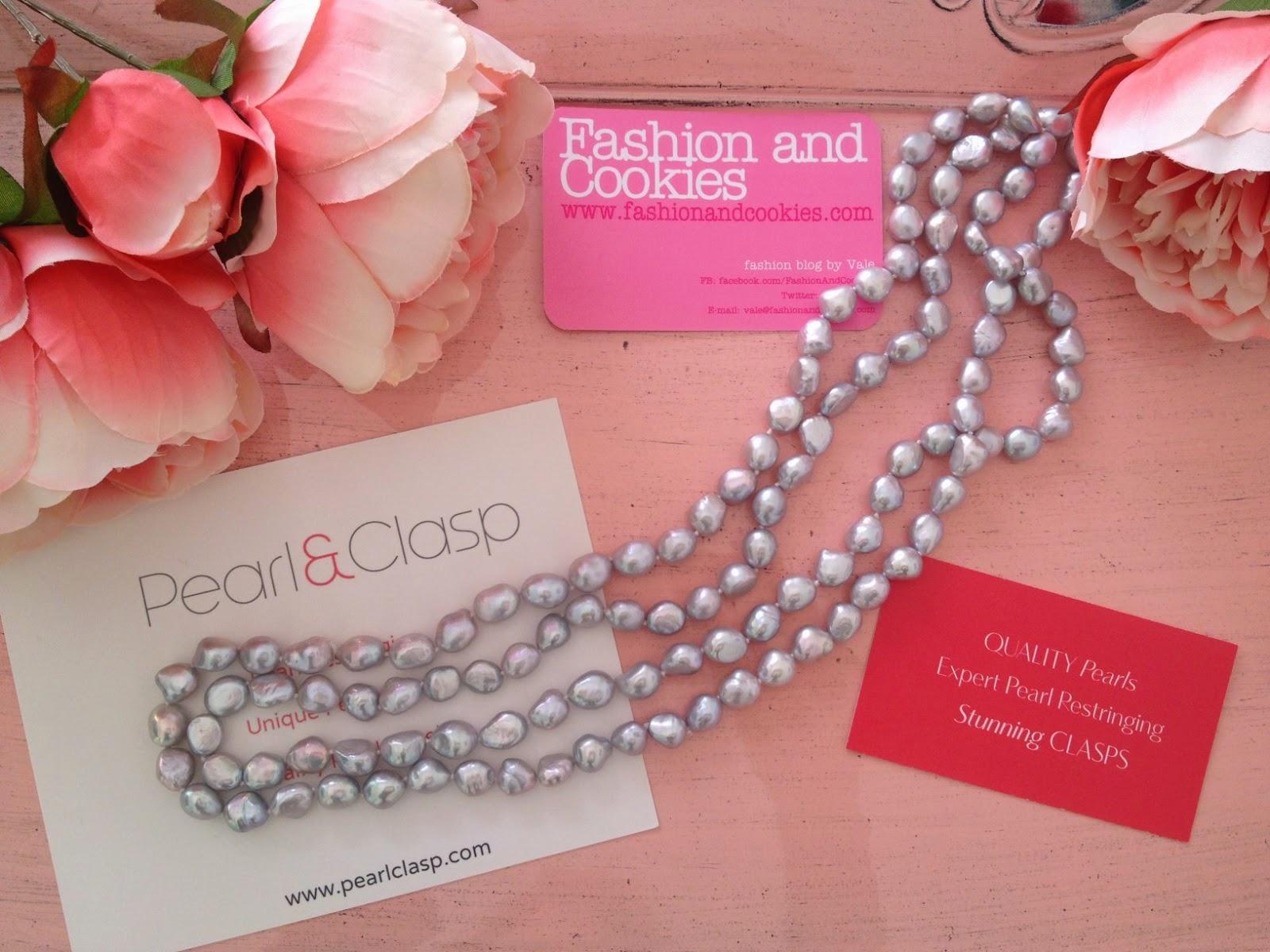 Rosa Secca Cosa Fare pearl & clasp gray endless pearl necklace review   fashion