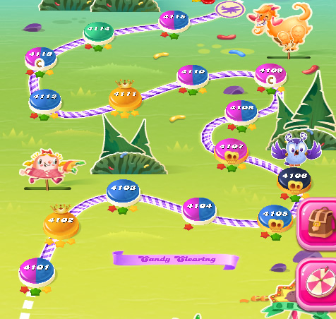 Candy Crush Saga level 4101-4115