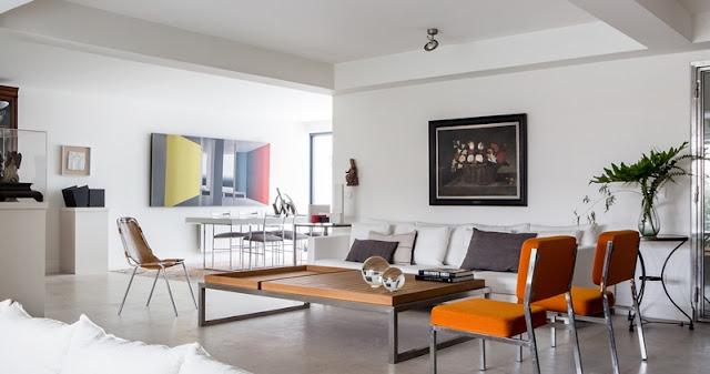 Interior chic con toques en naranja chicanddeco
