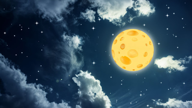 Image result for moon made out of cheese orgins free images