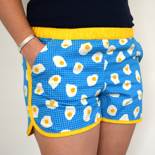 cozy birdhouse | fried egg city gym shorts