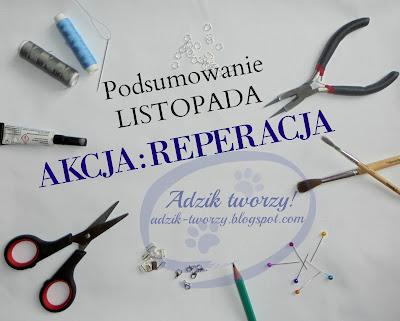 AKCJA:REPERACJA - Podsumowanie LISTOPADA 2016