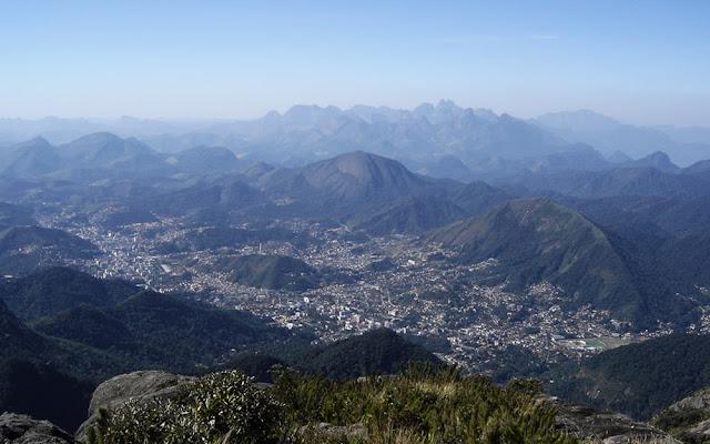 Imagem aérea de Teresópolis