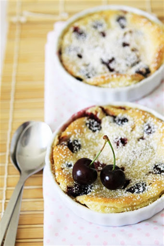 Cherry Clafoutis - Recipe can be found at Gourmet Baking