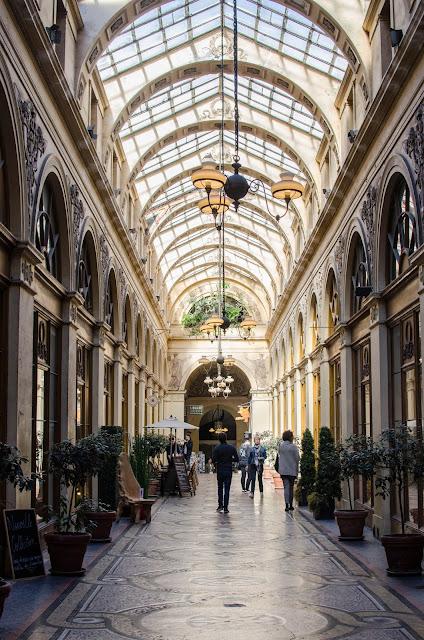 Galerie Vivienne, Paris France arcades