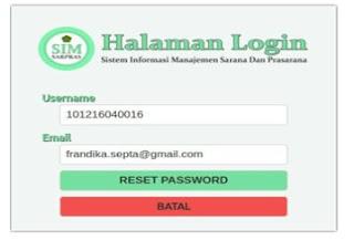 Cara Login Atau Mengubah/Reset Password Di Simsarpras Kemenag Dengan Mudah