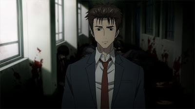 Parasyte the maxim shinichi school massacre gore screenshot