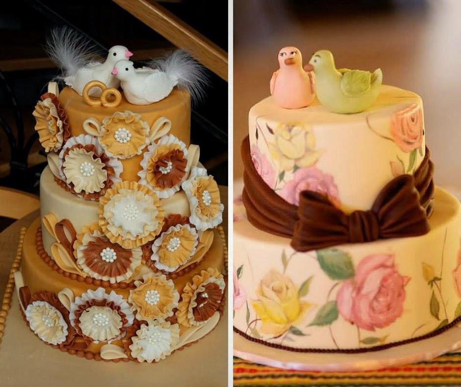 фигурки за сватбена торта от захарно тесто