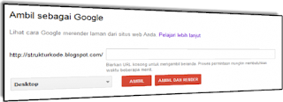 untuk url artikel blog di google webmaster tool bergotong-royong sangatlah gampang sekali Cara Menggunakan Fetch As Google biar tidak Error
