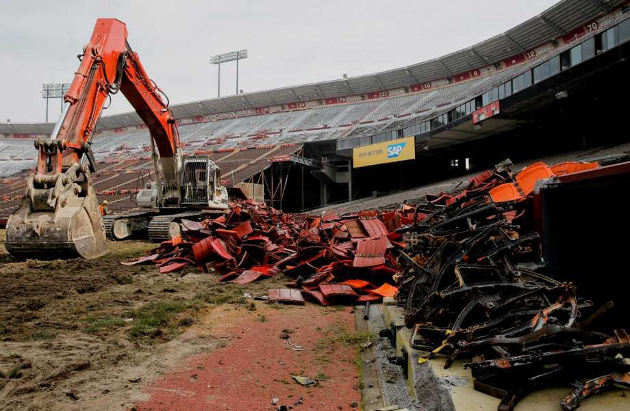 candlestick park demolition - Candlestick Park Demolition by Douglas Thron FAA certified pilot