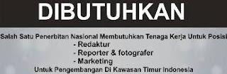 Lowongan Kerja di Penerbit Nasional wilayah Makassar