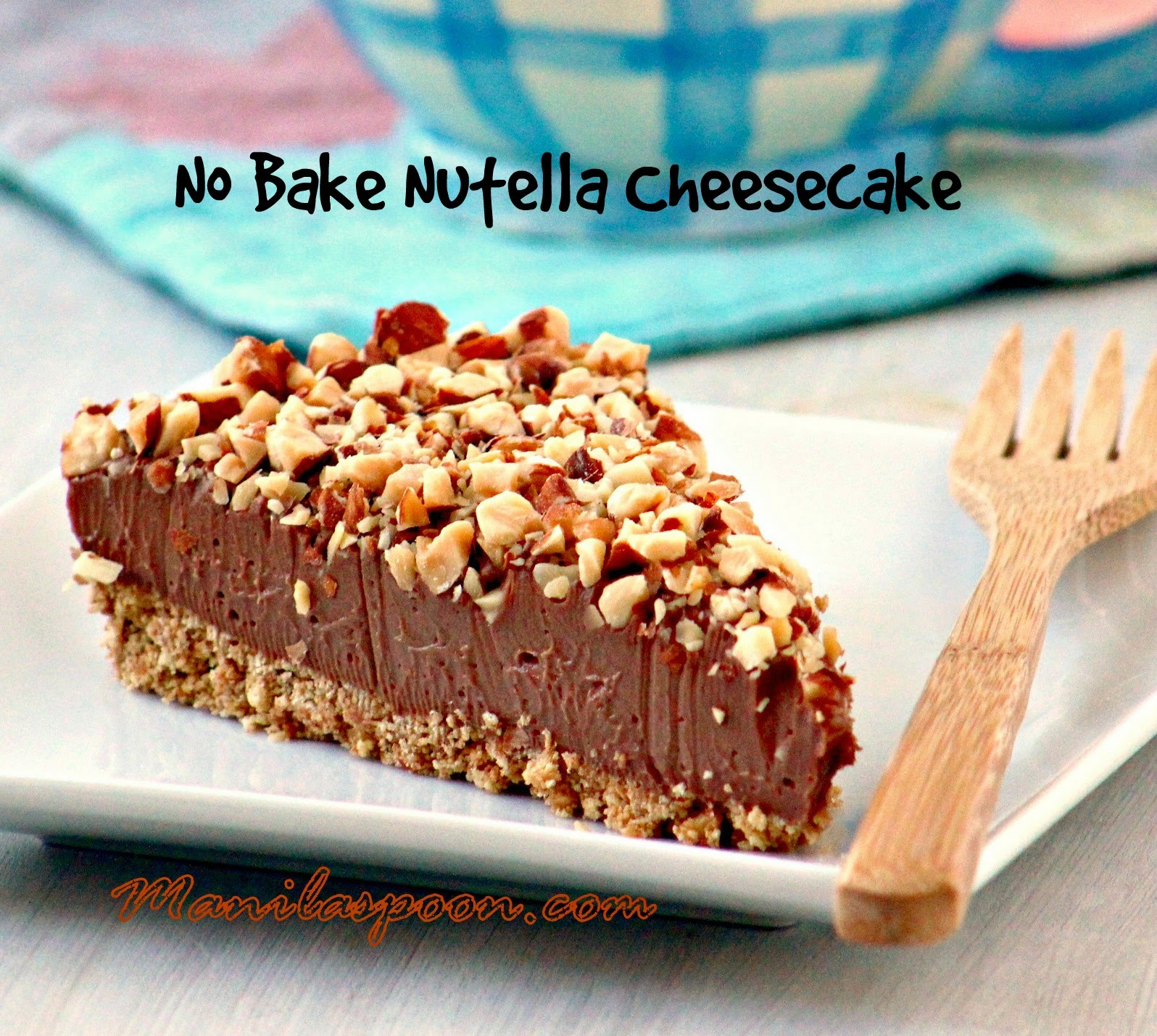 Totally luscious NO BAKE NUTELLA CHEESECAKE - this is what cheesecake dreams are made of! You're welcome! #no #bake #nutella #cheesecake