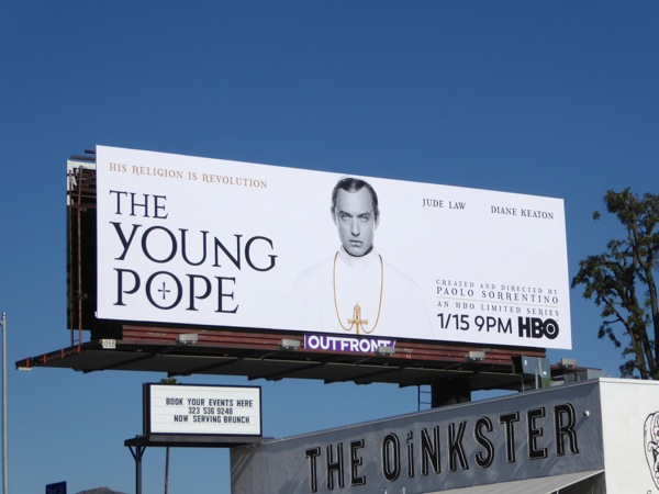 Young Pope HBO series billboard