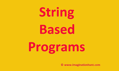 String based program by imagination hunt