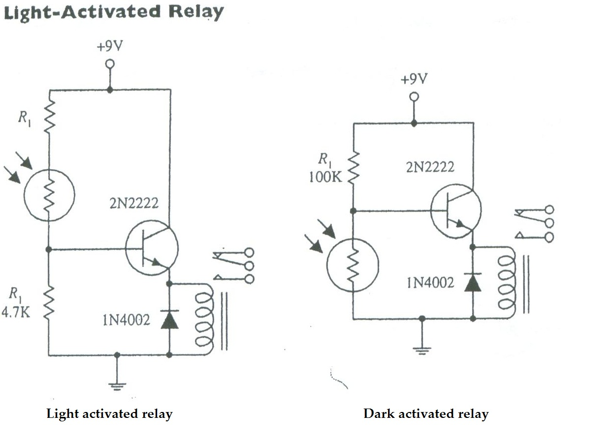 Layman Electronics Moisture Activated Relay By Bipolar Transistor A 6 To 9 V With 500 Coil Can Be Used In Either Circuit