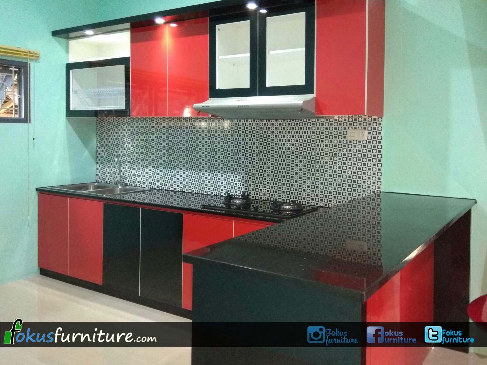 Superbe Colorful Furniture Kitchen Set Image   Home Design Ideas And .
