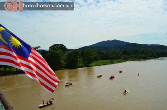Sungai Perak dari Jambatan Victoria, Kuala Kangsar, Perak