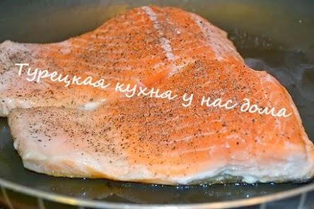 красная рыба жареная без масла