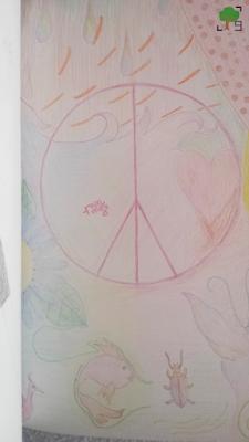 pacyfka, pacyfizm, symbol, kolorowe obrazy, hippie