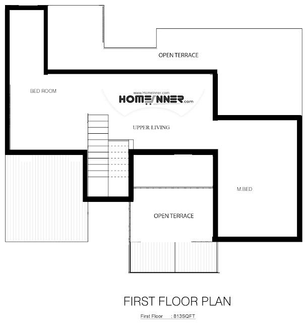 Modern Western Style 4 Bhk Villa Design in 2213 sq ft