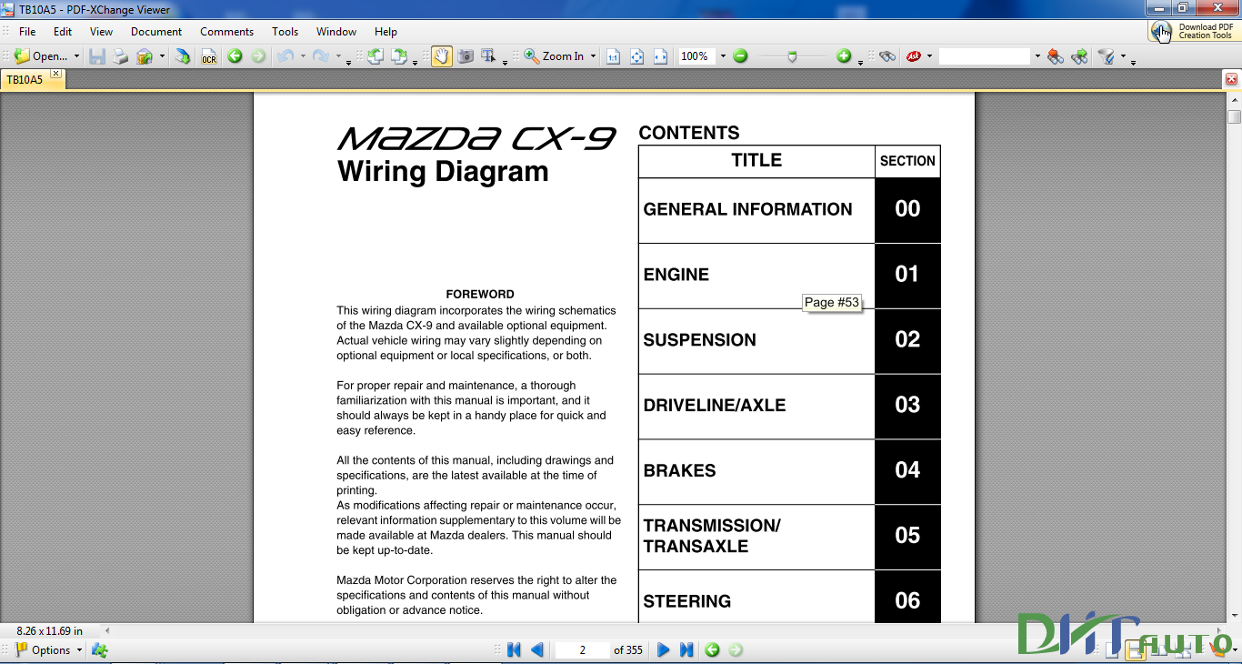 Mazda Cx9 2012 Wiring Diagram