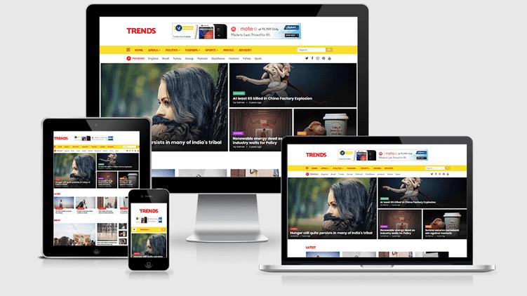 Trends - Haber ve Magazin Duyarlı Blogger Teması