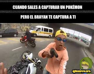 meme de pokemon go  el brayan te captura a ti