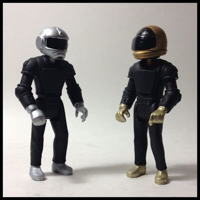 "Randomly Accessed Memories Edition ""Dance Punks"" Bootleg Daft Punk Resin Figures by Kris Dulfer"