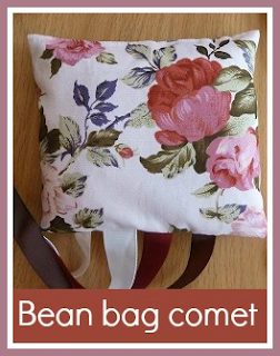 Simple sewn bean bag comet toy